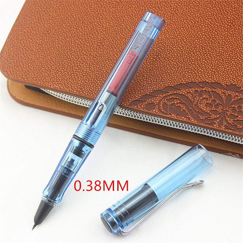 Jinhao 599 ink pen Super fine tip 0.38mm luxury fountain pen stylo plume calligraphy pen caneta caligraphy
