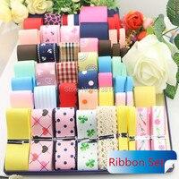 2016 New 51Yards Child Series Printed Satin Grosgrain Organza Ribbon Mixed Ribbon Set DIY Sewing Tape Kids Hair bows Accessories