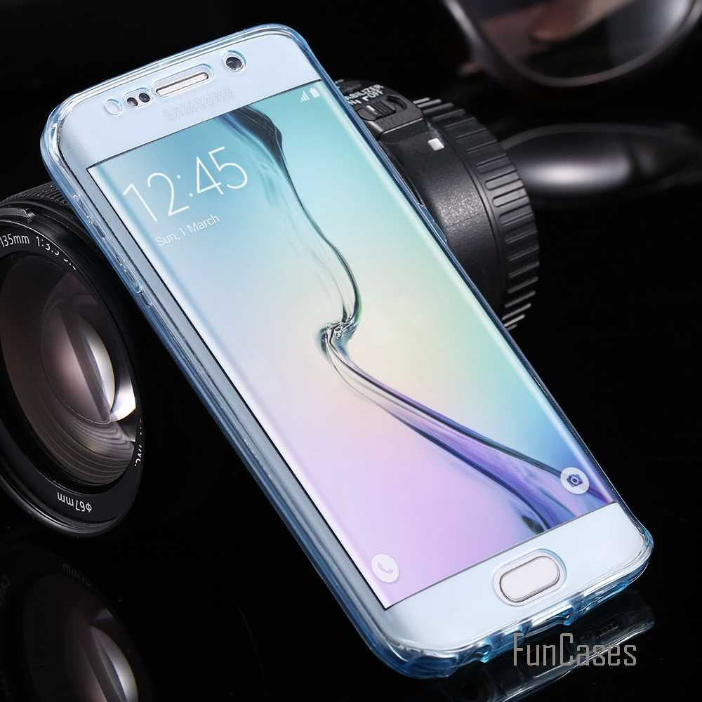 Transparent 360 Coverage Case for S7 Edge Full Protective Phone Cover for Samsung Galaxy S7 Edge Soft TPU All Round Slim Screen