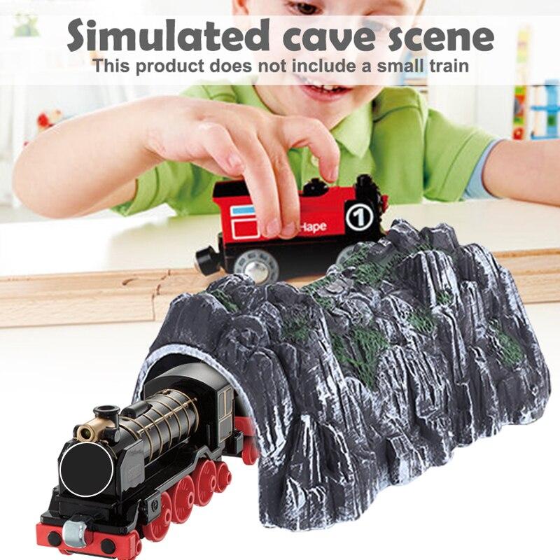 Прохладное моделирование туннель пластик Diy песок модель стола для моделирования пещеры Прямая