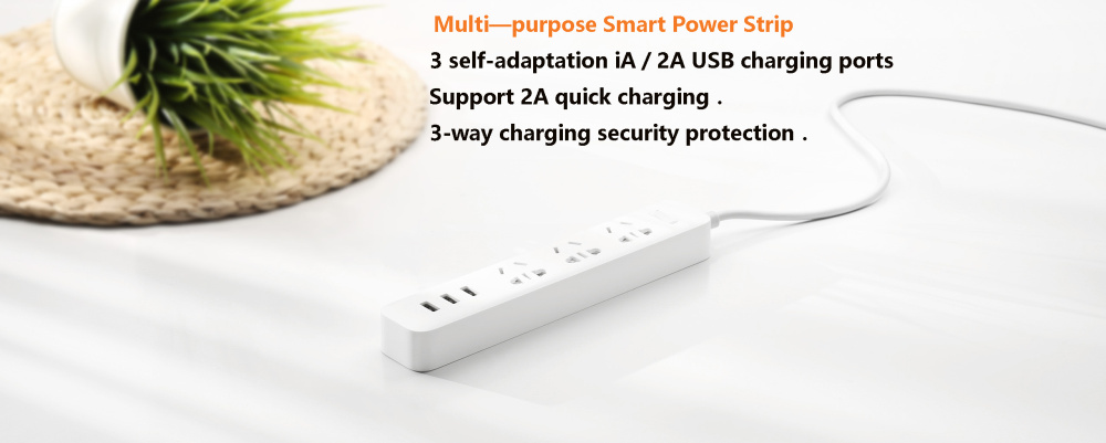 XiaoMi 3 USB Port Fast Charging 2.1A USB Smart Power Socket Power strip charger Portable Strip Plug Adapter For Phone H25 # (14)