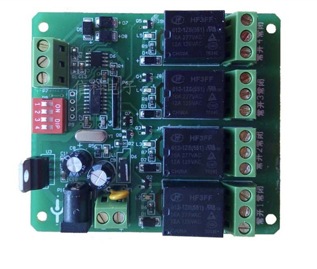 Relé moudle 4 canais relé módulo de controle inteligente RS485 Endereço pode ser configurado controle inteligente interruptor de controle Remoto