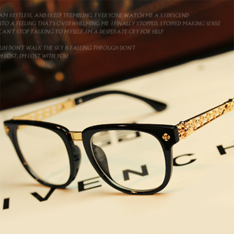 Designer Eyewear Frame 2017 Fashion Brand Eyeglasses Women Man Gold ...