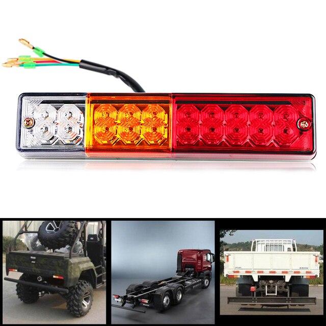 2pcs Trailer Lights Led Rear Tail Brake Stop Reverse Light
