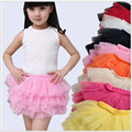 Summer new Children's performances skirt Girls dance skirt 2-7T  optional multi-color children tutu girl short skirts