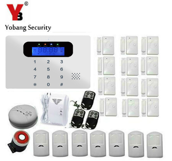 YobangSecurity Russian/Spanish/French /Italian/Czech/Portuguese Wireless Wired GSM SMS Home Burglar Security Alarm System Kit