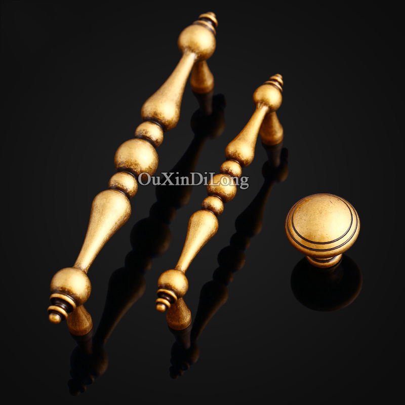 (25PCS A1+15PCS A2+5PCS A3) Brass Furniture Handles European Antique Drawer Wardrobe Cupboard Cabinet Kitchen Pull Handles&Knobs vocabulario elemental a1 a2 2cd