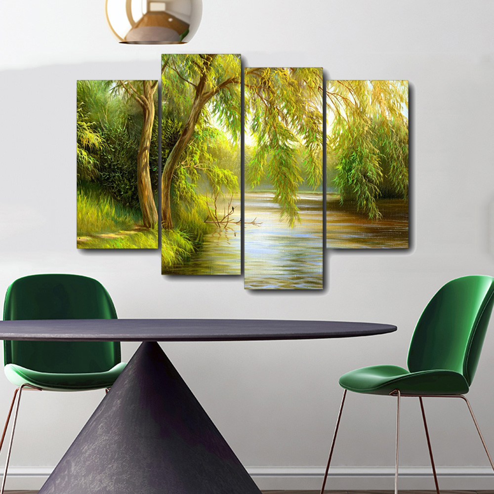 Afternoon Forest Canvas Painting Calligraphy Prints Home Decoration Wall Art Posters Wall Pictures for Living Room Bedroom in Painting Calligraphy from Home Garden
