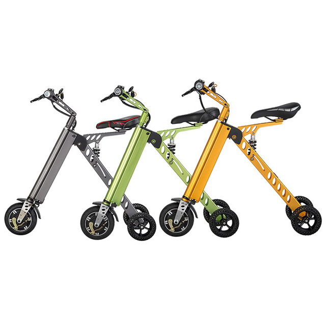 Portable 3 Wheel Foldable Electric Scooter Mobility Folding Bike Lithium Battery 36v Bicycle E