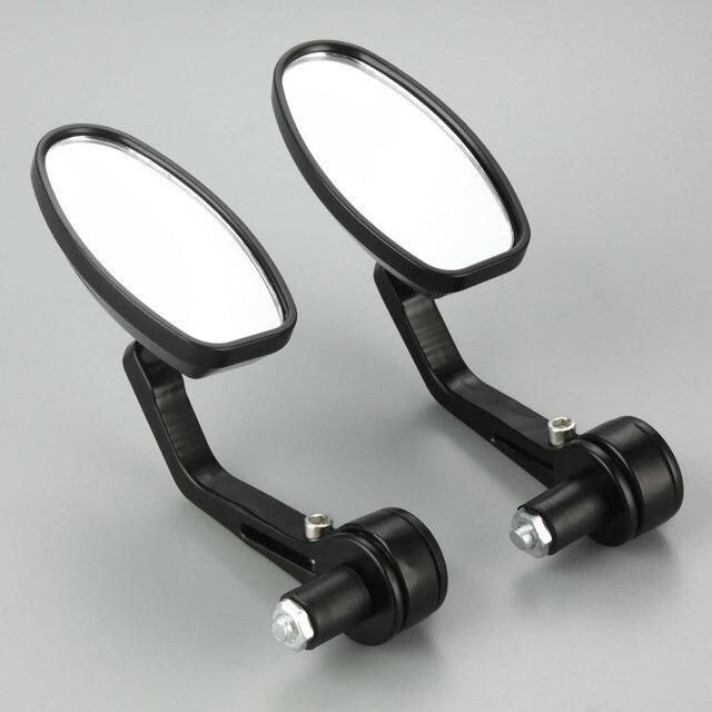 """1 paar Motorrad Rückansicht Spiegel 7/8 """"CNC Aluminium Motorrad Rückspiegel Cafe Racer Für 22mm Motorrad Lenker spiegel"""