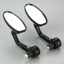 """1Pair Motorcycle Rear View Mirrors 7/8"""" CNC Aluminum Motorbike Rearview Mirror Cafe Racer For 22mm Motorcycle Handlebar Mirrors"""
