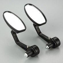 Espejo retrovisor para motocicleta, espejo retrovisor de aluminio CNC de 7/8 pulgadas para moto Cafe Racer de 22mm, 1 par