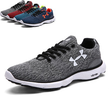 2017 Spring Cushion Men Running Shoes Breathable Textile Sneakers Light Sports Footwear Jogging Walking Shoes SIZE 40-46
