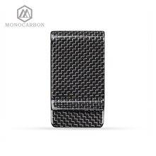 Monocarbon 2017 Novos Presentes Ofícios do Metal Colorido Fibra De Carbono Money Clip, Para Tira De Fibra De Carbono Money Clip