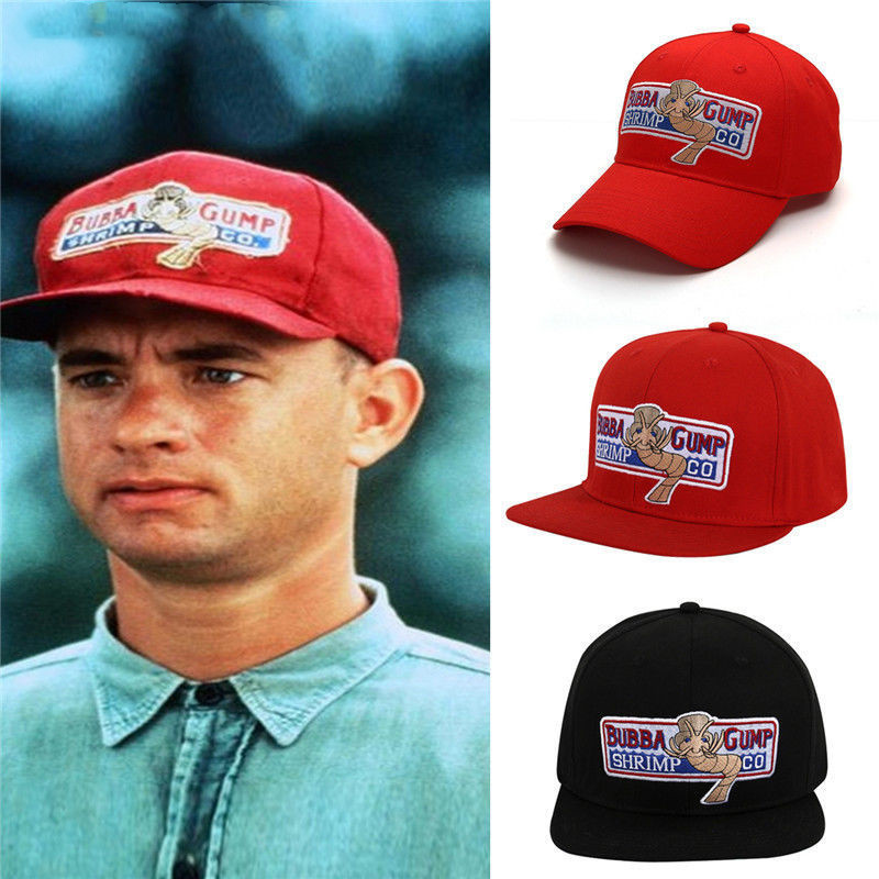 Movie 1994 Bubba Gump Shrimp CO. Baseball Hat Forrest Gump Costume Cosplay Embroidered Snapback Cap