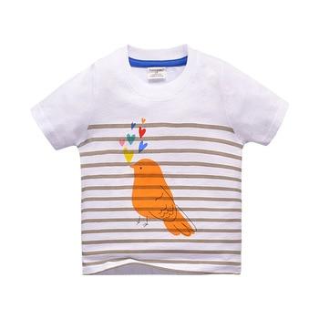 BINIDUCKLING Summer Baby Boy Printed Boy Cotton t shirt infant Clothes Toddle Tees Boys Tops Kids t-shirt Fashion Striped
