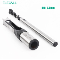 ELECALL Woodworking Square Hole Bits Drill Mortising Chisel Set 9.5mm/ 3/8