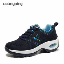 Casual Platform Women's Shoes New Lace Up Female Sneakers Breathable Air Mesh Shoes Woman Flats Wedge Walking Women Footwear New hot sale women shoes female casual footwear casual shoes top quality air cushion comfort shoes light soft platform woman shoes