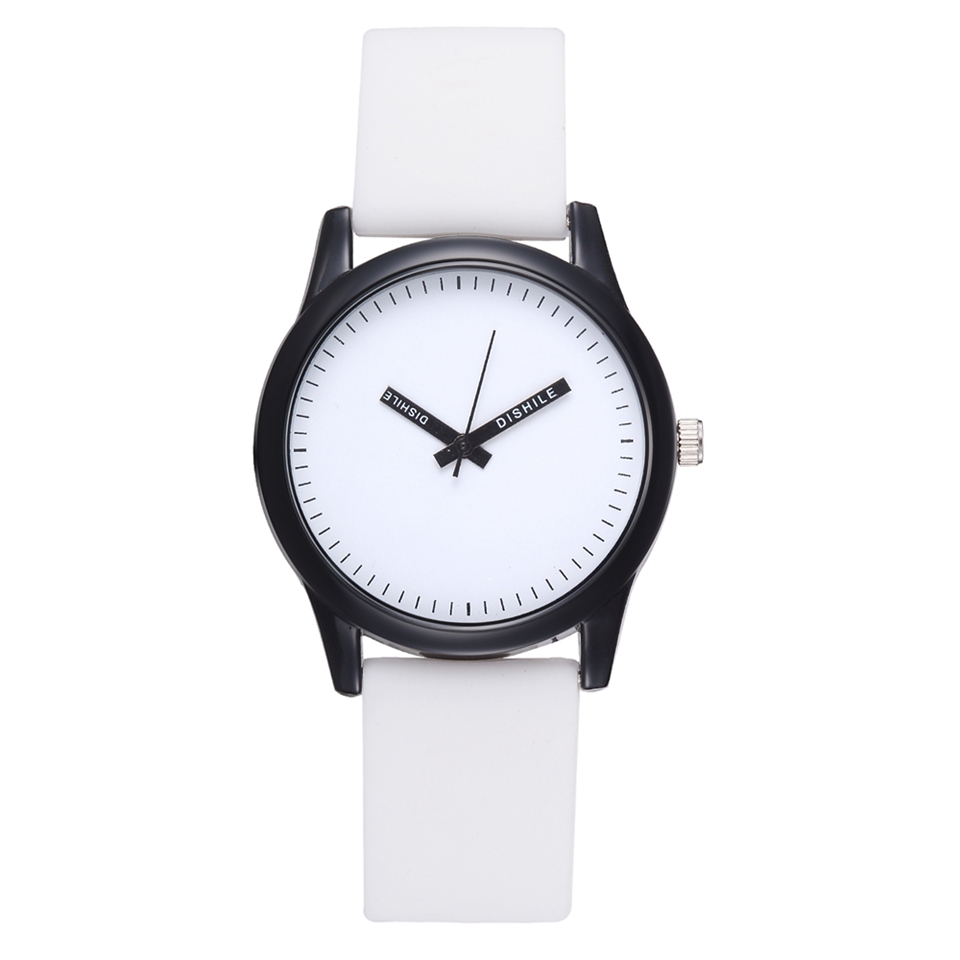 Fashion 2018 Women Simple Dial Creat Pointer Silicone Strap Watches Causal Quartz Wristwatch Relogio Masculino Affordable