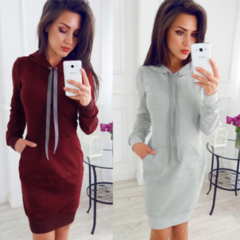 Autumn Sexy Lace-up Bodycon Dress Woman 2018 Long Sleeve Casual Knitting Dress Elegant Sheath Mini Dress