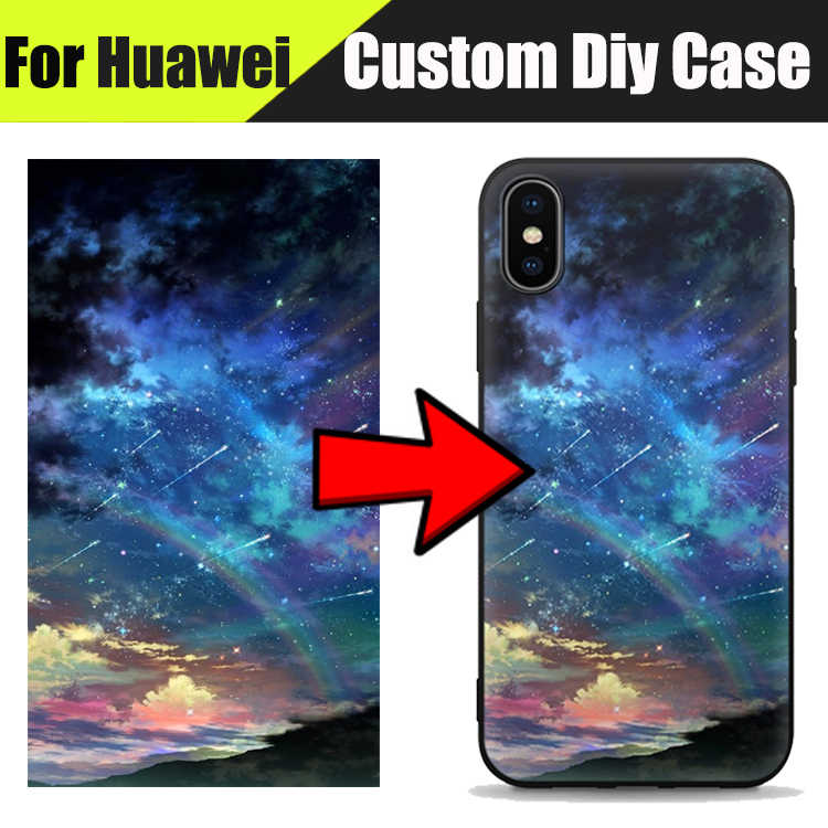 EiiMoo Offical Printing Diy Custom Cases For Huawei Ascend P8 Lite 2017 P9 Lite Mini P10 Plus Soft Silicone Tpu Back Cover Case