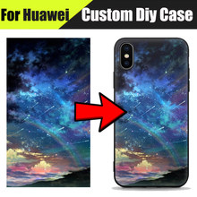 EiiMoo Offical Printing Diy Custom Cases For Huawei Ascend P8 Lite 2017 P9 Lite Mini P10 Plus Soft Silicone Tpu Back Cover Case(China)