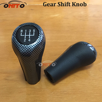 Wholesale 10pcs 5/6 speed Head carbon fiber Gear Shift Knob For BMW E30 E32 E36 E46 E39 E34 E63 E83 E84 E90 E91 X1 X3 X5 X6