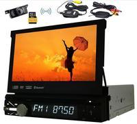 Eincar 7 дюймов стерео Радио в тире одного din 1 din GPS навигации DVD CD плееры с Беспроводной резервного копирования Камера + 8 г GPS карты