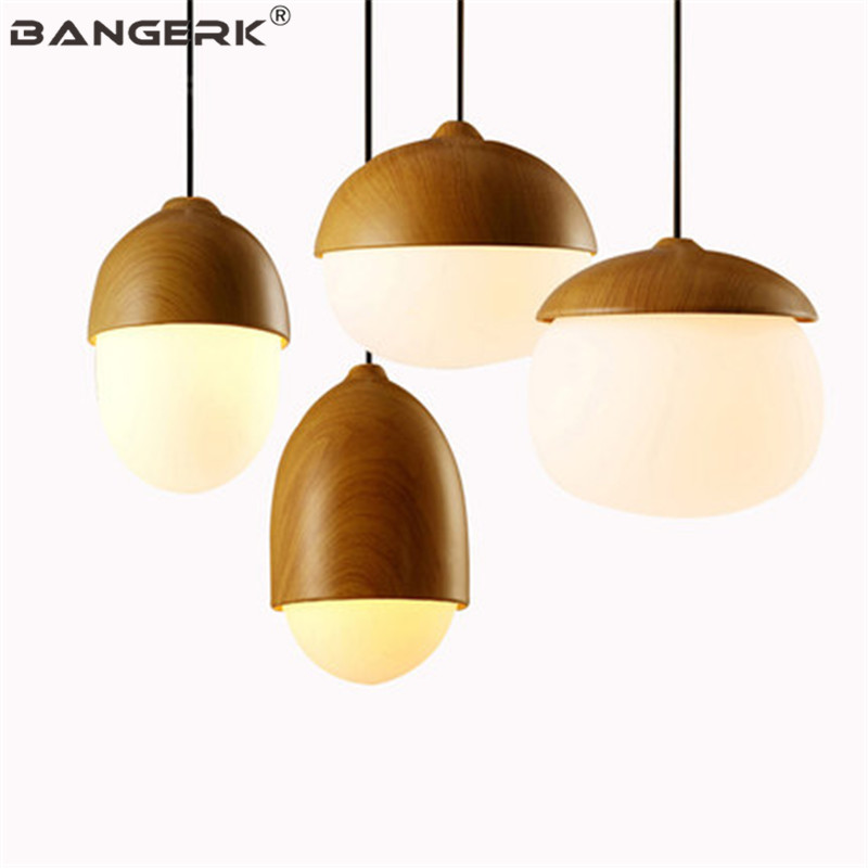 Japanese Nuts Luminaire Lamp Modern Pendant Light LED Iron Glass Hanging Lamps Pendant Lighting Home Decor Dining Room Lights iwhd led pendant light modern creative glass bedroom hanging lamp dining room suspension luminaire home lighting fixtures lustre