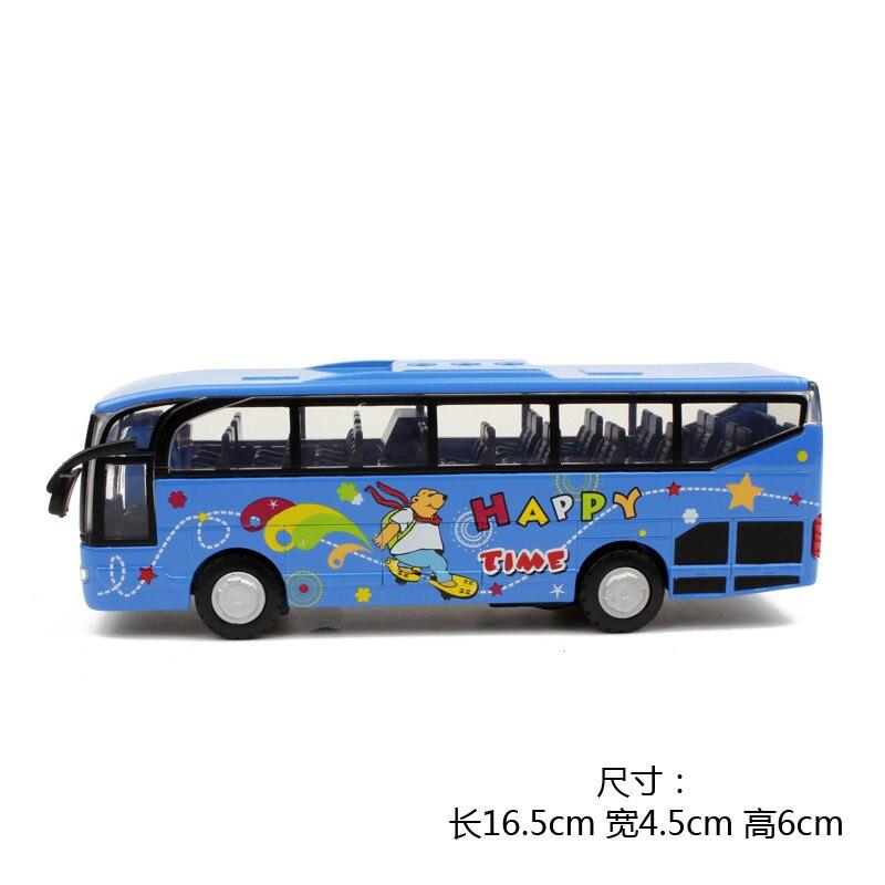 15 64 35 De Réduction Alliage Jouet Modèle Voitures Voyage Grand Bus De Police Lumière Dessin Animé Modèle Autobus Scolaire Juguetes Voiture Cadeau
