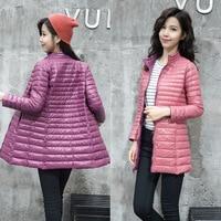2019 Women's Jackets Ultra Light 90% Down Jacket Women Autumn Winter Coat Jackets Women leisure slim Fit Two Side female jackets