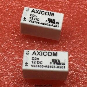 Image 1 - Darmowa wysyłka 100% nowy oryginalny przekaźnik 10 sztuk/partia AXICOM V23105 A5403 A201 12VDC 3A 8PIN