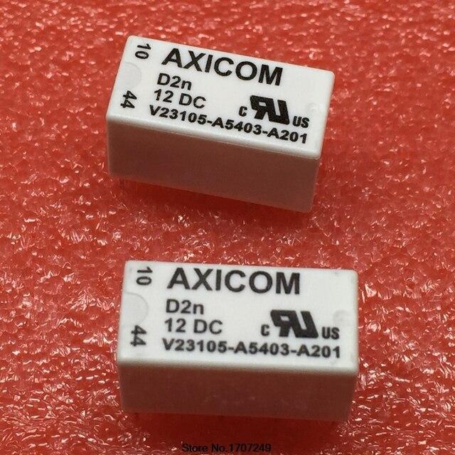 Darmowa wysyłka 100% nowy oryginalny przekaźnik 10 sztuk/partia AXICOM V23105 A5403 A201 12VDC 3A 8PIN