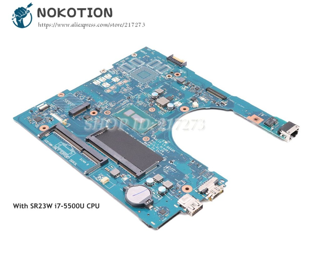 NOKOTION для Dell Inspiron 5458 5558 5758 материнская плата для ноутбука CN 0RC3PN 0RC3PN AAL10 LA B843P SR23W I7 5500U CPU