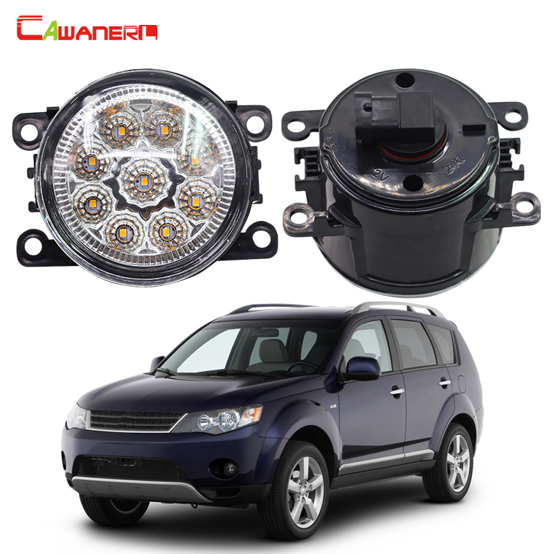 Cawanerl 2 X Car Light LED DRL Daytime Running Light Fog Lamp 12V High Power For Mitsubishi Outlander 2/II CW_W 2006-2009 cawanerl 2 x car led fog light drl daytime running lamp accessories for nissan note e11 mpv 2006