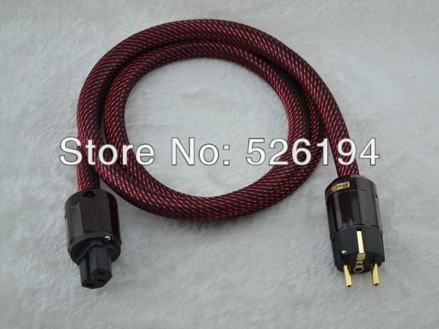 Free shipping 1.5 meter 7N Copper Solid Core EU version power cable with P-079E/C-079 audio power cable