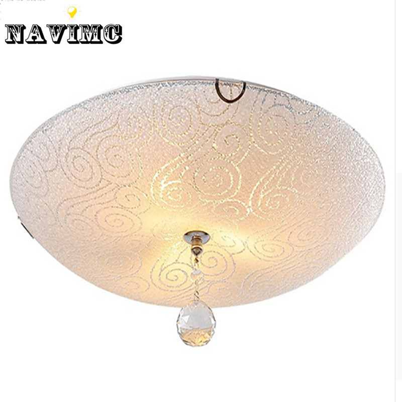 Ceiling Lights B And M : Modern led lustre crystal ceiling light white lampshade