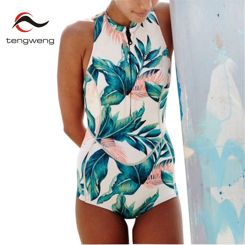 2017 Women Summer Sexy High Neck Floral Print One Piece Swimsuit Zipper Swimwear Plus Size Bathing Suit Beach Surf Suit Bodysuit women one piece triangle swimsuit cover up sexy v neck strappy swimwear dot dress pleated skirt large size bathing suit 2017
