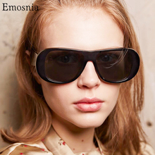 European Oversized Super Shield Sunglasses Women Thick Plast