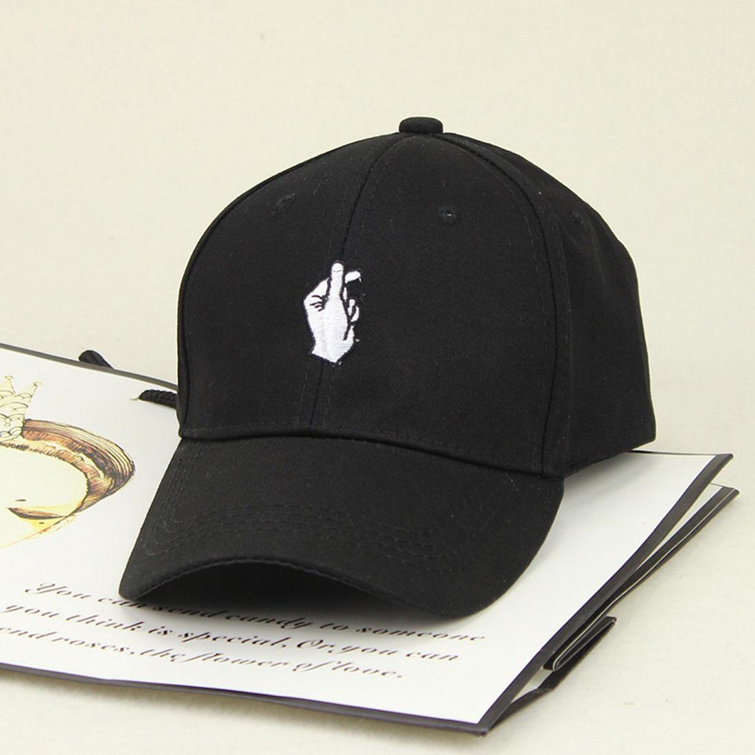 Hot Arrival 1Pcs Women Men Love Gestures Finger Embroider Golf Baseball Cap Snapback Hats Flipper Little Heart Love Truck Hat