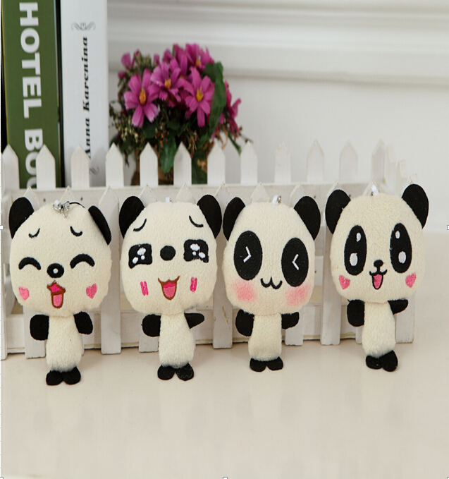 1PC Kawaii Lover Couple Valentine's Day Gift Novelty Chinese Mascot Doll Toy Plush Panda Pendant For Mobile Phone Charm