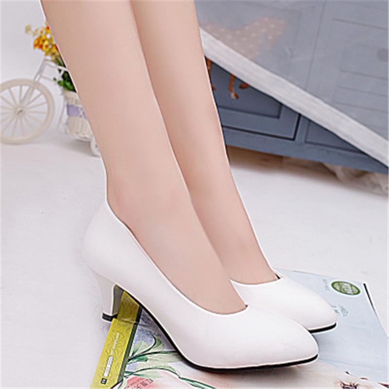 Zapatos Lss Blanco Coreanas 328 902 Pequeño Primavera Talones Verano Las Suelas Cabeza Antideslizantes Negro Mujer blanco Redonda Con Zapato Negro Mujeres Y qUUYEAw