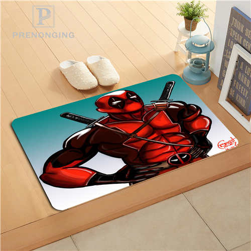 Custom Deadpool Cartoon Doormat Print slip-resistant Mats Floor Bedroom Living Room Rugs 40x60cm 50x80cm Free Shipping 171128-11