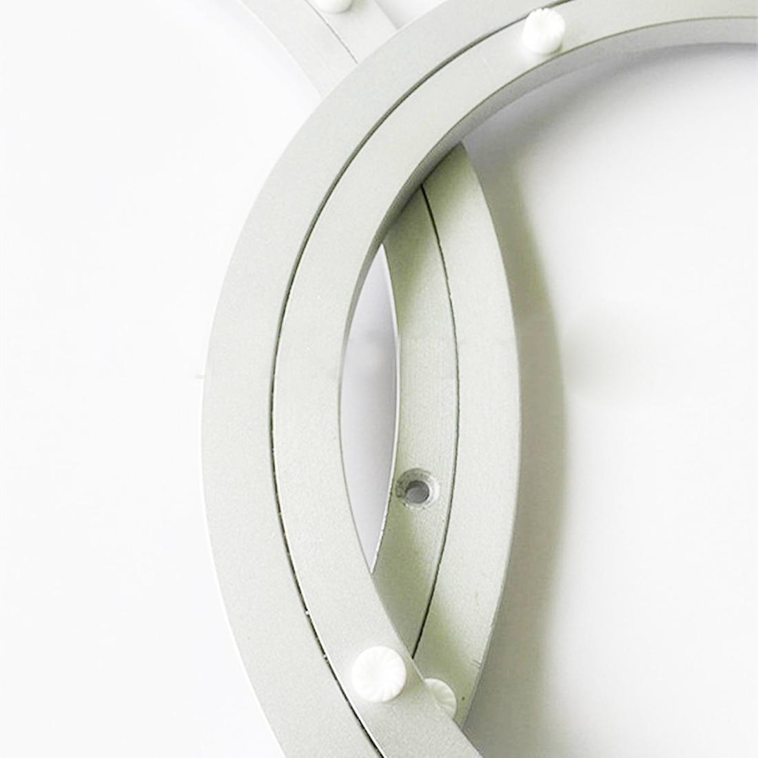 Aluminium Rotating Turntable Bearing Swivel Plate 18 Inch Silver crb30025uut1 crbc30025uut1 crossed roller bearings 300x360x25mm turntable bearing tlanmp slewing turntable use