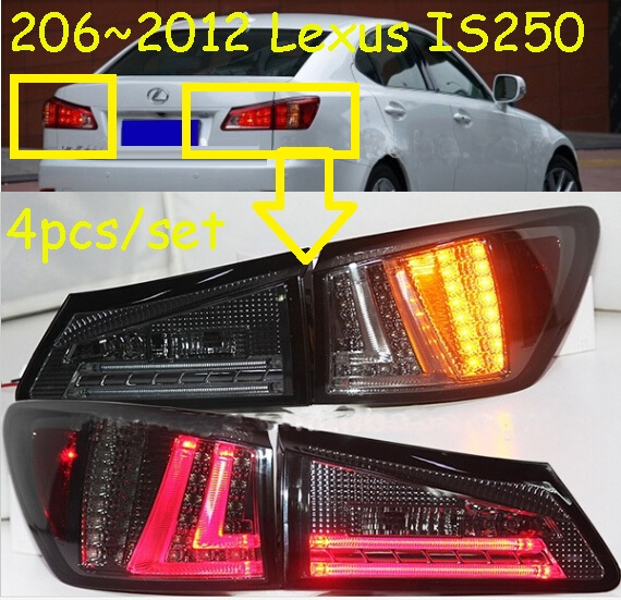 IS250 taillight,2006~2012,Free ship!4pcs/set,IS250 rear light,IS250 Fog light,IS250 is250 taillight 2006 2012 free ship 4pcs set red black color is250 rear light is250 fog light is250 is300 tail light is300