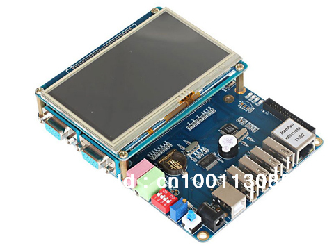 "FL2440 with 4.3"" LCD embedded ARM9 development board/ kit, TNT Global FREE SHIPPING"