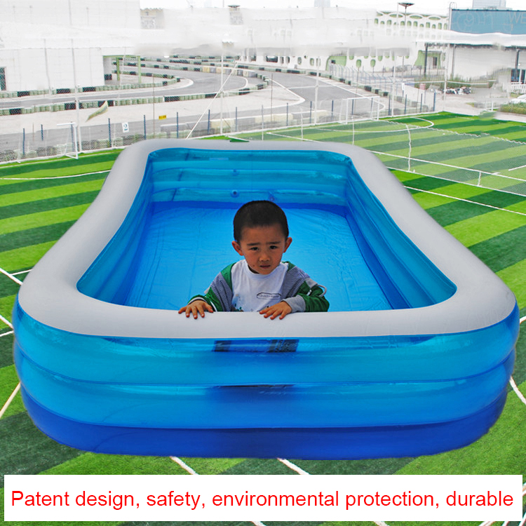 305cm famille piscine gonflable hors sol piscine enfant adulte enfants bleu jardin extérieur jouer piscine couverture piscine gonflable