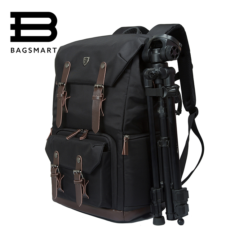 BAGSMART Canvas&Leather Retro Camera Bag NATIONAL GEOGRAPHIC NG5070 Camera Backpack Black Travel Camera Backpack Photography Bag national geographic leather professional camera bag multi functional backpack travel photography carry bag for dslr ng au5310