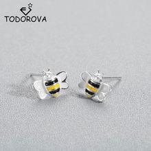 Женские серьги гвоздики Пчелка todorova в виде медовой пчелы