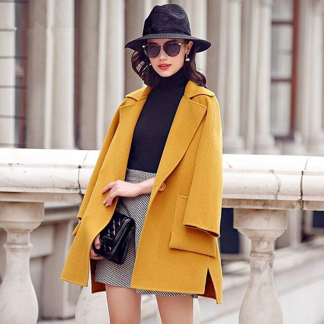 2016 Новых Зимнее Пальто Длинный Женщины Шерсть